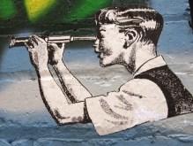 Phoenix the Street Artist, street art, hoenix the Street Artis, t-shirts, Salvador Dali, street art, Phoenix does Dali, Salvador Dali, Phoenix the Street artist, street art, Is It Art?, Maryann Adair,