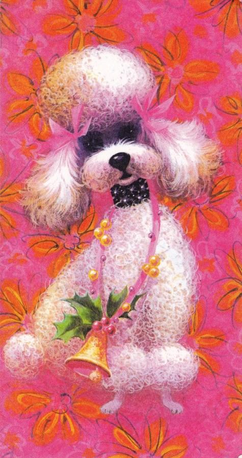 poodle, Vintage Fifth Avenue greeting card, vintage cards, Is It Art?, Maryann Adair,