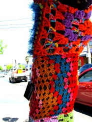 dances with wools, gurerilla knitting, yarn bombing, Maryann Adair, Is It Art?
