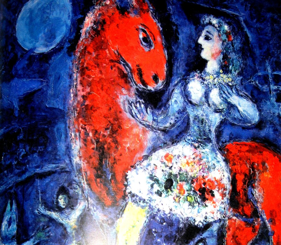 Marc Chagall | Equestrienne on Red Horse (1966)