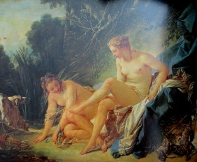 Francois Boucher - Diana resting after leaving her bath