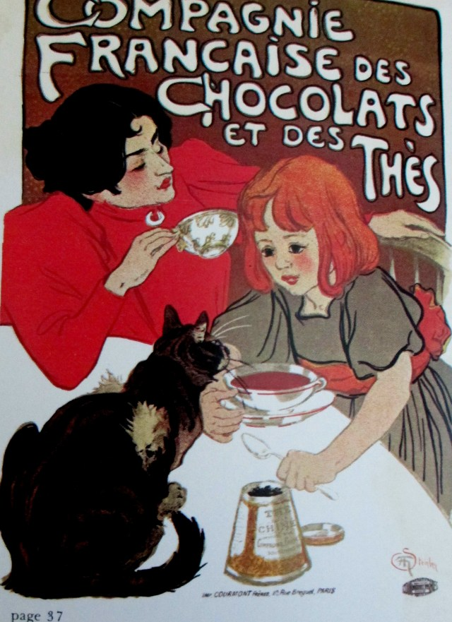theophile-alexandre steinlen - french chocolate & tea company
