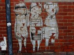 Miso Moor St Fitzroy wheatpaste, street art, street artists, is it art?
