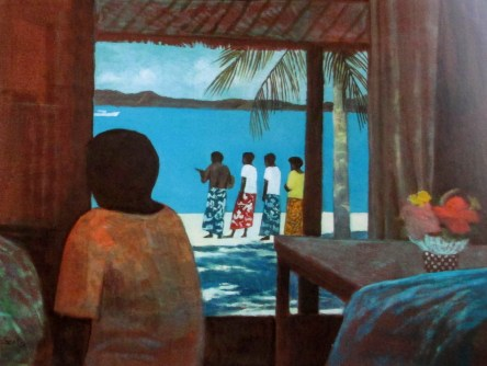 Ray Crooke, Musical procession on the beach, Australian artists, is it art?
