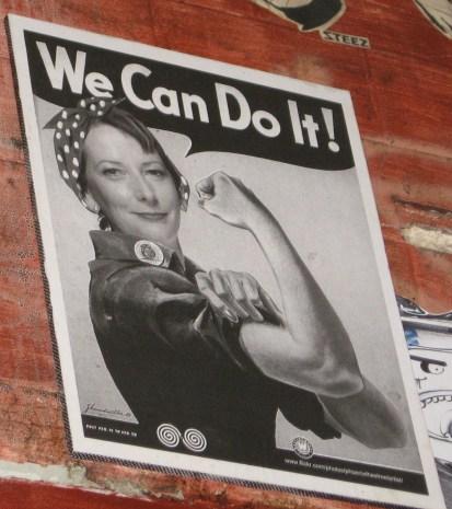 We can do it   Julia Gillard, street art poster by Phoenix the Street Artist, street artists, Phoenix the Street Artist, is it art?