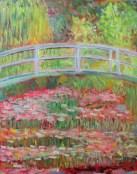 Megan Diplock - Monet Bridge, student art, Claude Monet, Giverny,