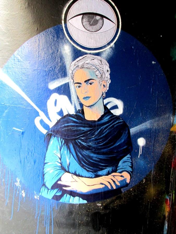 Frida Kahlo street art piece