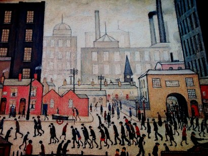 L S Lowry | Industrial Scene | Going to Work