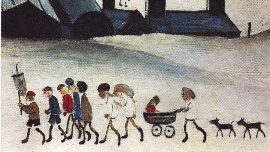 L S Lowry | Children (detail from The Pond) 1950