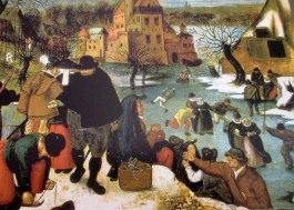 Pieter Brueghel the Younger   Winter Scene with Figures on Ice (1600)