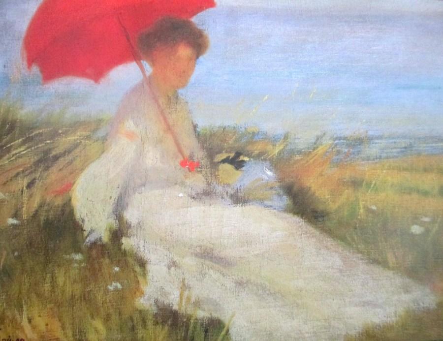 Karel Spillar | Lady With Parasol (1904)