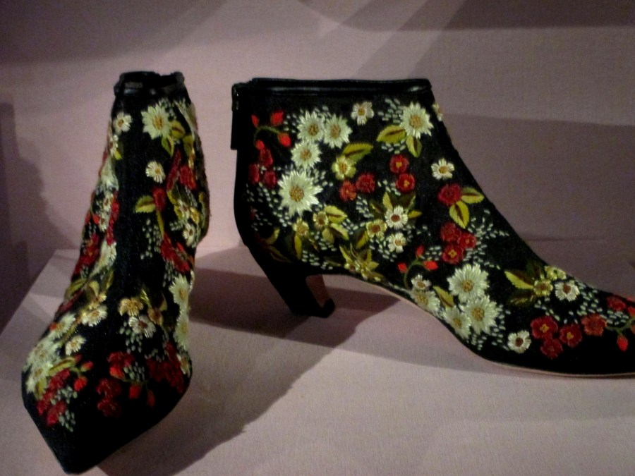 Christian Dior | Ankle Boots 2014 | Autumn-Winter 2014-5, flocked velvet, calfskin