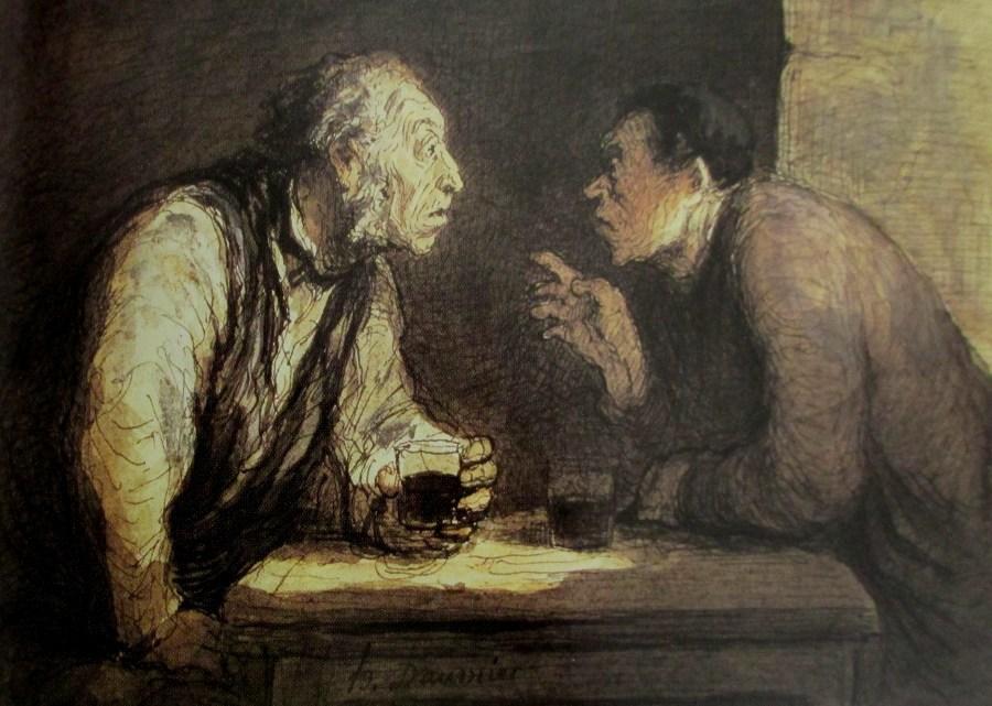 Honore Daumier   Deux Buveur