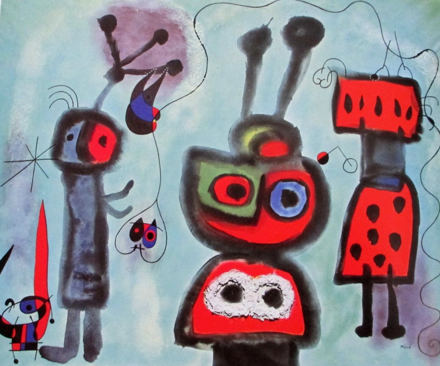 Joan Miro | The Bird With the Calm Gaze, Its Wings Afame (1952)