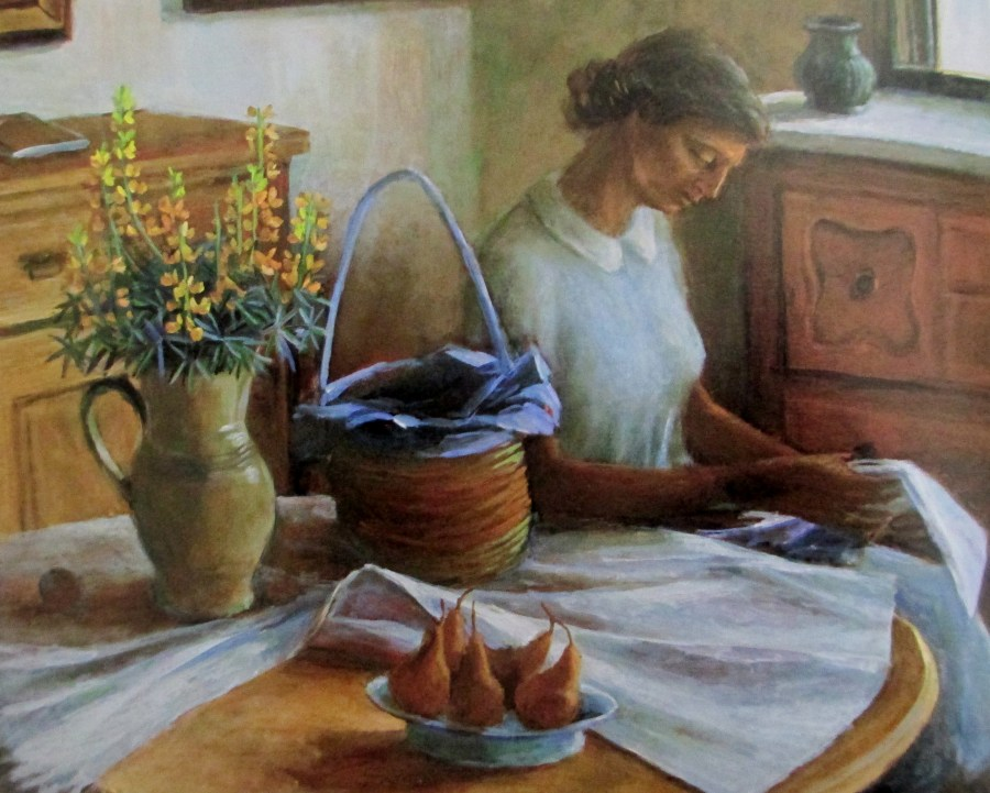 Margaret Olley | Interior with Girl Reading (c1962)