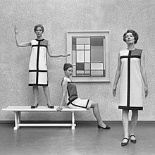 'Mondrian dresses' designed by Yves St Laurent (1966)