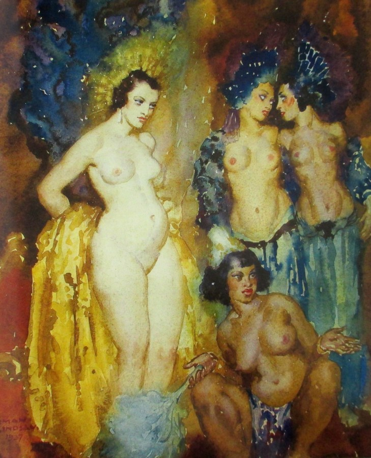 Norman Alfred Williams Lindsay | Four Nudes (1937)