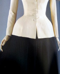 Christian Dior | The Bar Suit 'Corolle' Line 1947 [Detail]