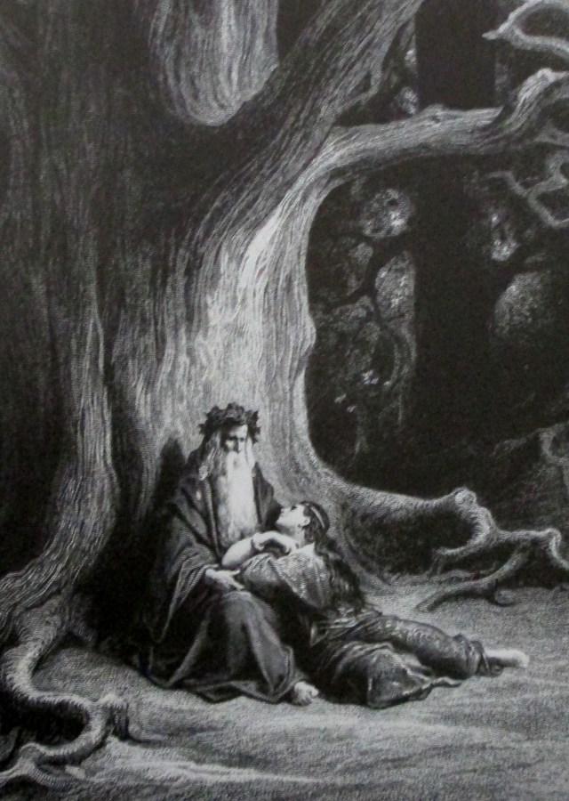 Gustave Dore   Merlin and Vivien Repose from Idylls of the King London