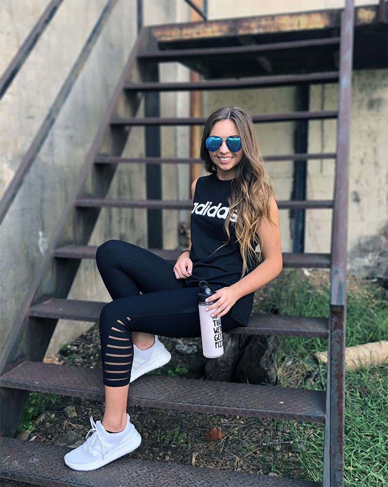 Adidas Workout Outfit - Mary Anna Jefcoat