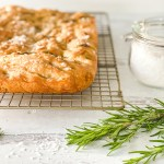 Focaccia bread recipe homemade rosemary pesto Italian