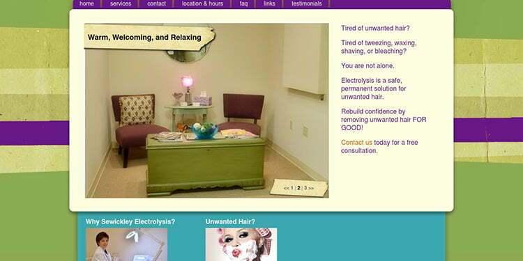 website screenshot - sewickleyelectrolysis.com