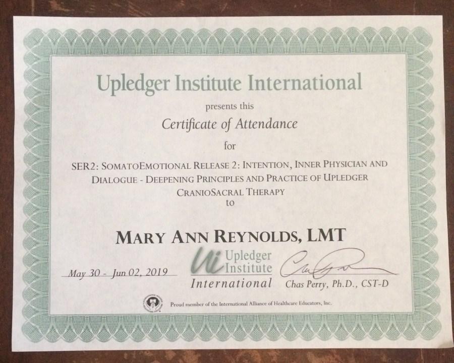 SER2 certificate