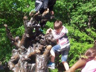 The Chessire Cat & Climbing Boy