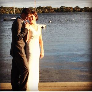 After the Wedding - Lake Harriet - Katie took this picture.