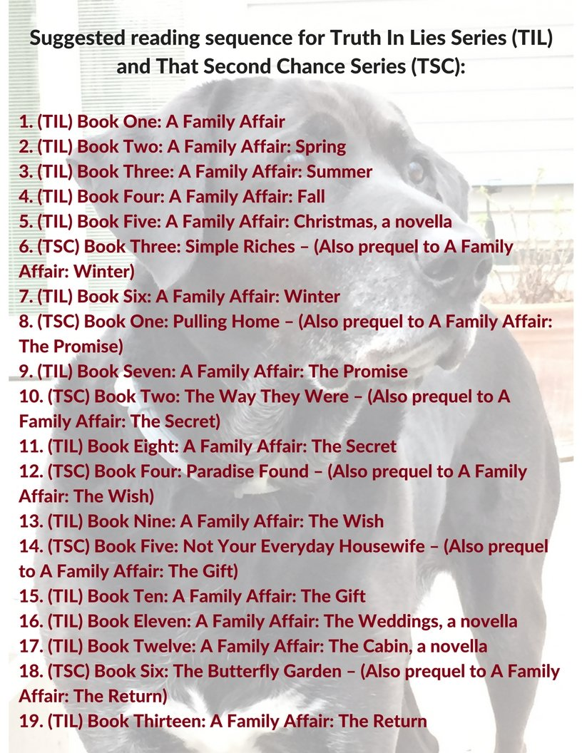 Suggested Reading Order for the Truth in Lies series and That Second Chance series