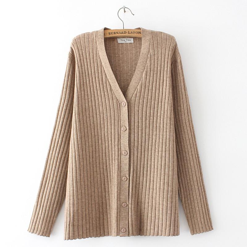 Ribbed Knit V-Neck Cardigan (3 Colors)