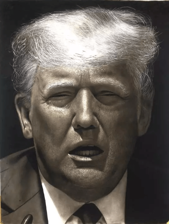 Olajide Oluwamayowa Peter Draws Trump (Photos)