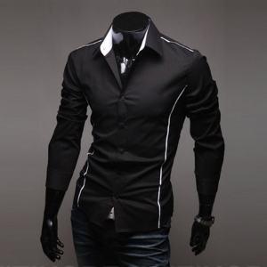 Men's Luxury Stylish Casual Designer Long Sleeve Dress Shirt