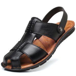 Men's Sandals Summer Beach Sandals Genuine Leather Sandals
