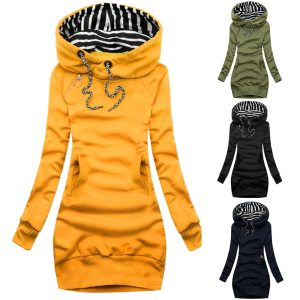 Women Sweatshirt Pullover Hoodies Long Sleeve Tops Drawstring Sweatshirts