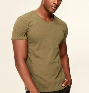 Genuine Men's T-Shirt Presser - Cotton V Neck