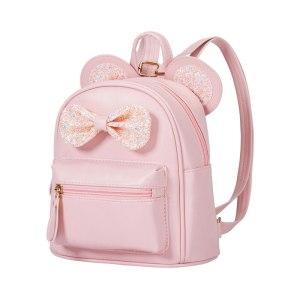Children School Book Bag PU Leather Lovely Girls Boys Preschool Backpack