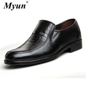 Men'S Dress Shoes Fashion Leather Shoes Men Brands