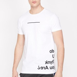 Koton Male White Printed T-shirt