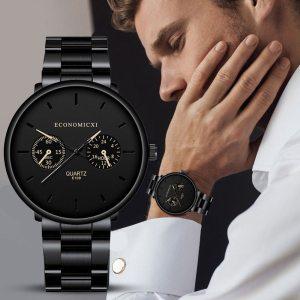 Men Business Watch Men's Steel Belt Sport Quartz Wrist Watch