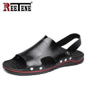Men'S Sandals Summer Leather Sandals Men