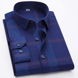 Men's Shirts 100% Cotton Long Sleeves Casual Shirts Male