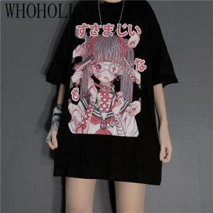Summer Gothic clothing Sexy Female Loose Women T-shirt Punk