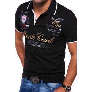 Men Polo Shirt Short Sleeve Cotton Casual Printing