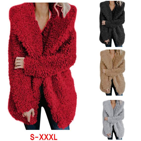 ZOGAA Teddy Coat Women Winter Jackets Plus Size Hooded Overcoat