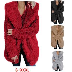 ZOGAA Teddy Coat Women Winter Jackets Plus Size Hooded Overcoat