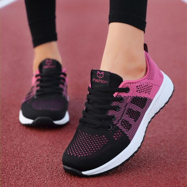 Women Shoes Casual Ladies Shoes Woman Lace-Up Mesh Sneakers