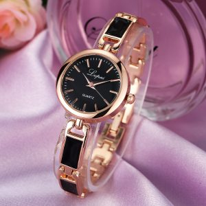 2Women Unisex Stainless Steel Rhinestone Quartz Wrist Watch