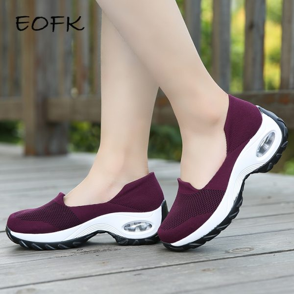 Women Sneakers Slip-On Spring Summer Cushioning Sports Shoes for Female