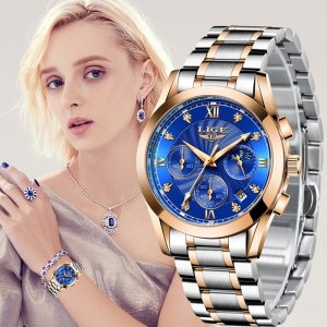 Gold Watch Women Watches Ladies Creative Steel Women's Bracelet Watches